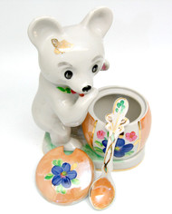 Bear Cub Fine Porcelain Honey Jar [Dulevo]