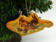 Russian Painted Christmas Ornament - Humpbacked Pony