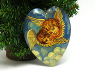 Russian Painted Christmas Ornament -  Angels