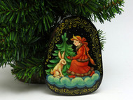 Russian Painted Christmas Ornament *Snow Maiden [6]