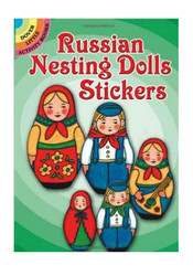 Full-color Russian Matryoshka stickers