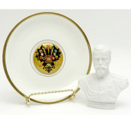 Nicholas II Hand Painted Double Headed Eagle Set