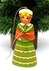 Maiden in Green Dress Ornament