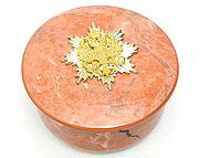 Faux Rhodonite Porcelain Box