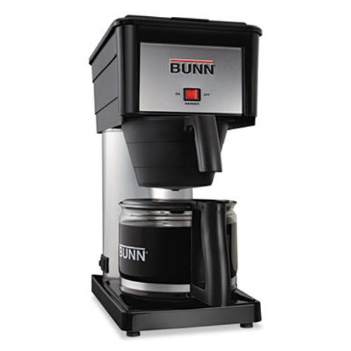 BUNN 10-Cup Velocity Brew BX Coffee Brewer, Black, Stainless Steel (BNN BXB)
