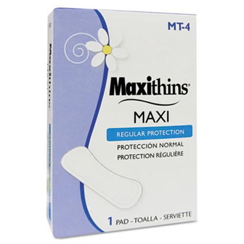HOSPECO Maxithins Thin, Full Protection Pads, 250 Individually Boxed Napkins/Carton (HOS MT-4)