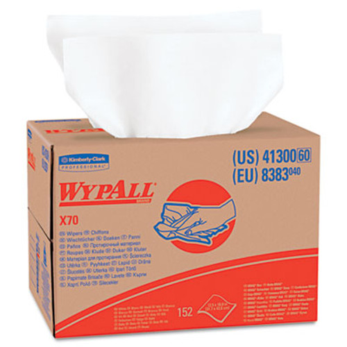 WypAll* X70 Wipers, BRAG Box, 12 1/2 x 16 4/5, White, 152/Carton (KCC 41300)