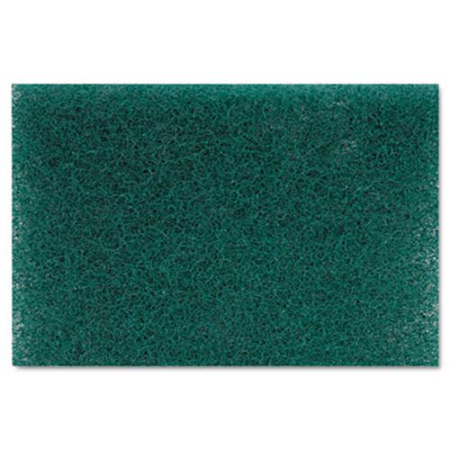 Boardwalk Heavy-Duty Scour Pad, Green, 6 x 9, 15/Carton (PAD 186)
