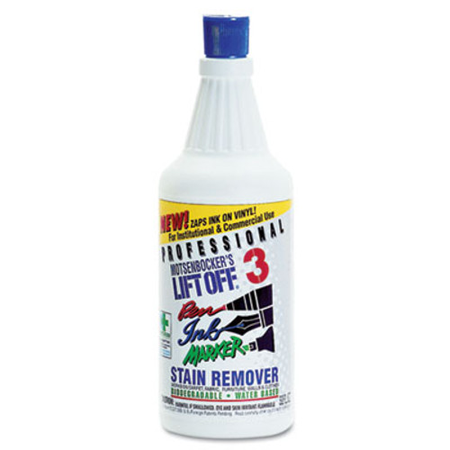 Motsenbocker's Lift-Off Lift Off #3: Pen, Ink & Marker Graffiti Remover, 32oz Flip-Top Bottle, 6/Carton (MTS 40903)