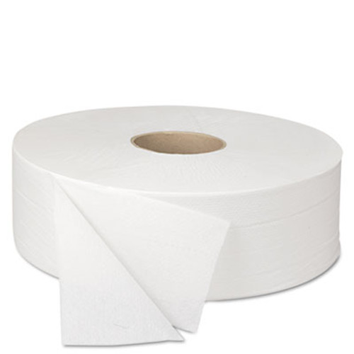 Boardwalk JRT Bath Tissue, Jumbo, 2-Ply, White, 2000 Feet/Roll, 6 Rolls/Carton (BWK 6102)