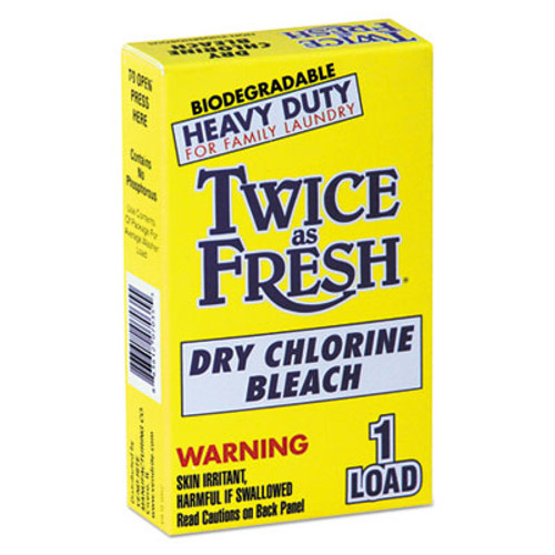 Twice as Fresh Heavy Duty Coin-Vend Powdered Chlorine Bleach, 1 load, 100/Carton (VEN 2979646)