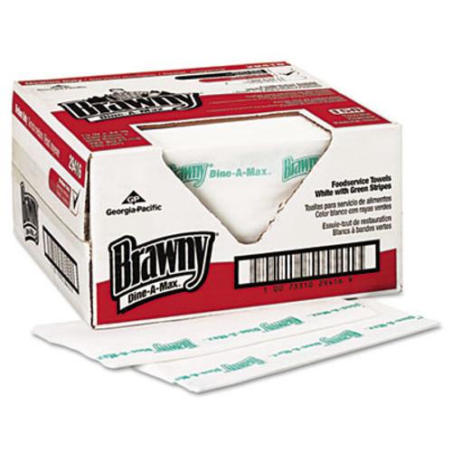 Brawny Dine-A-Max All Purpose Food Prep and Bar Towel, 1/4-Fold, 150/Carton (GPC 294-16)