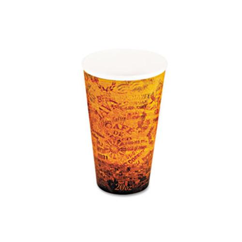 Dart Foam Hot/Cold Cups, 20oz, Brown/Black, 500/Carton (DCC 20U16ESC)