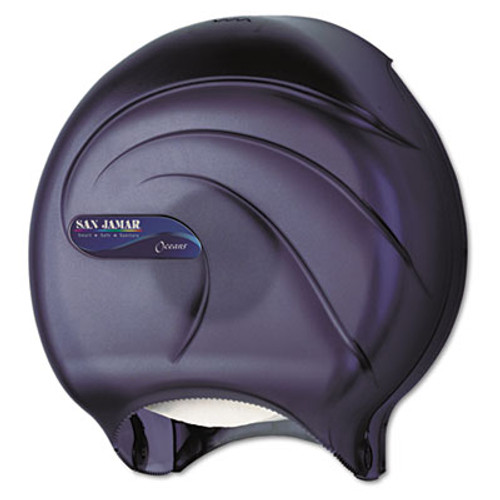 San Jamar Single JBT Tissue Dispenser, Oceans, 10 1/4 x 5 5/8 x 12, Black Pearl (SAN R2090TBK)