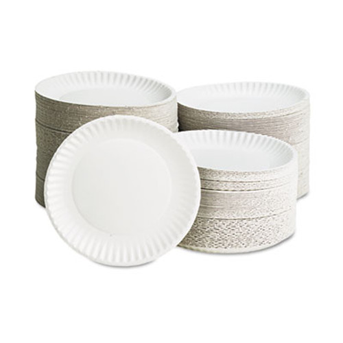 "AJM Packaging Corporation White Paper Plates, 9"" Diameter, 100/Bag, 10 Bags/Carton (AJM PP9GREWH)"