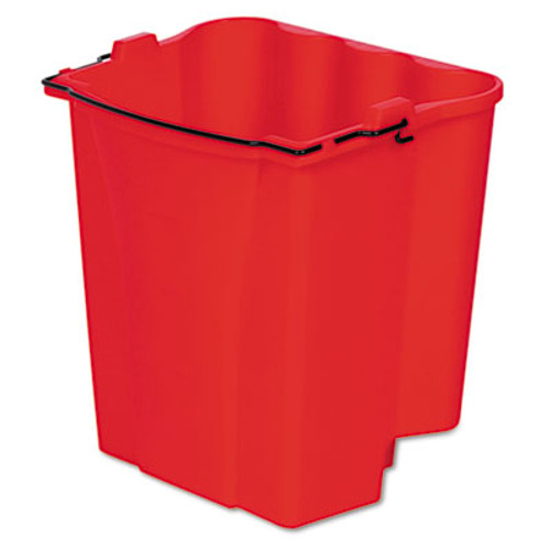 RubbermaidA Dirty Water Bucket for Wavebrake Bucket/Wringer, 18qt, Red (RCP 9C74 RED)
