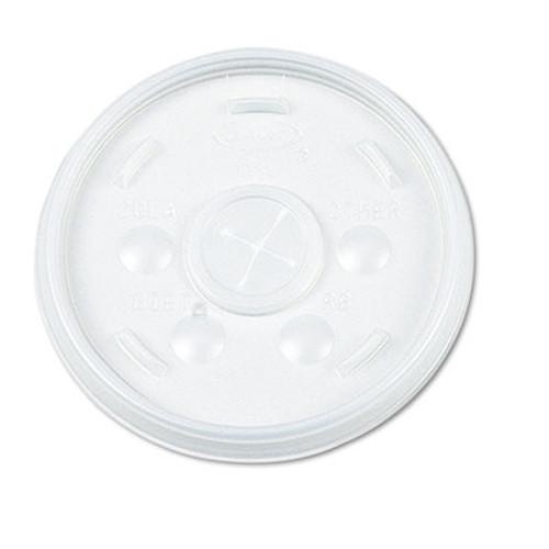 Dart Plastic Lids, for 16oz Hot/Cold Foam Cups, Slip-Thru Lid, White, 1000/Carton (DCC 16SL)