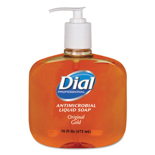 DialA Gold Antimicrobial Hand Soap, Floral Fragrance, 16oz Pump Bottle, 12/Carton (DIA 80790)