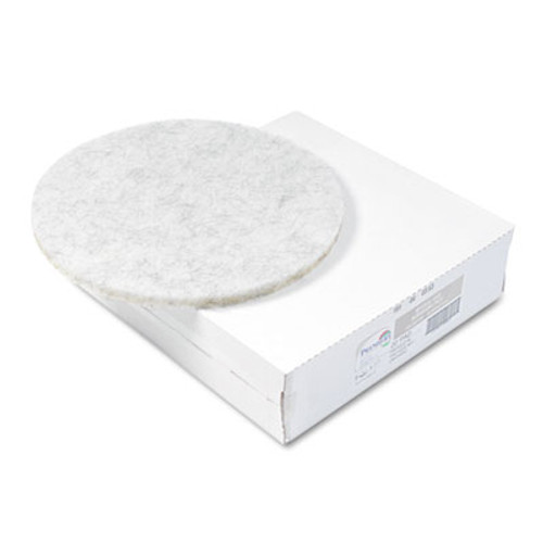 "Boardwalk Ultra High-Speed Floor Pads, Natural Hair/Polyester, 20"" Diameter, 5/Carton (PAD 4020 NAT)"