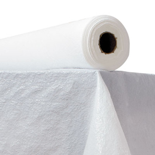"Atlantis Plastics Plastic Table Cover, 40"" x 300ft, White (ATL 2TCWPBL)"