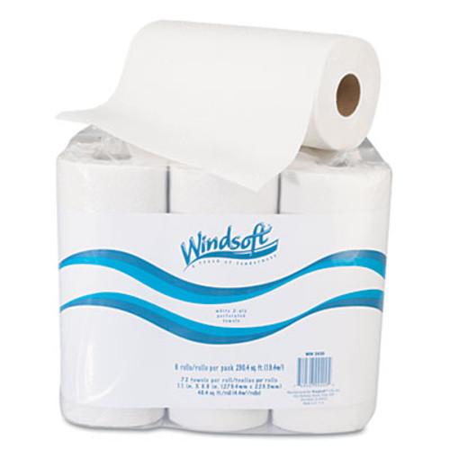 "Windsoft Paper Towel Roll, 11"" x 8 4/5"", White, 72/Roll, 6 Rolls/Pack (WIN 2420)"