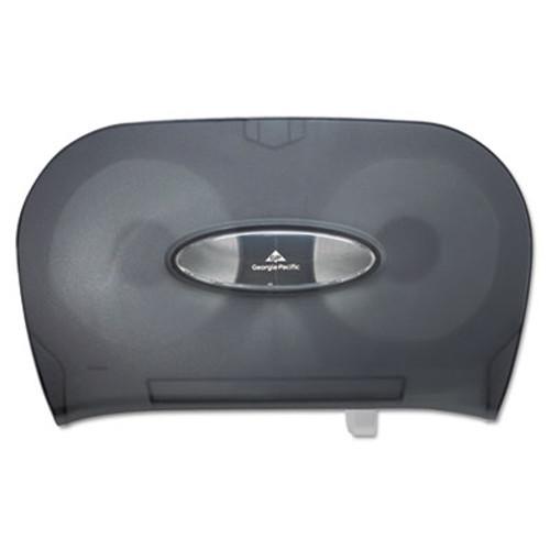 Georgia Pacific Two-Roll Bathroom Tissue Dispenser, 13 9/16 x 5 3/4 x 8 5/8, Smoke (GPC 592-06)
