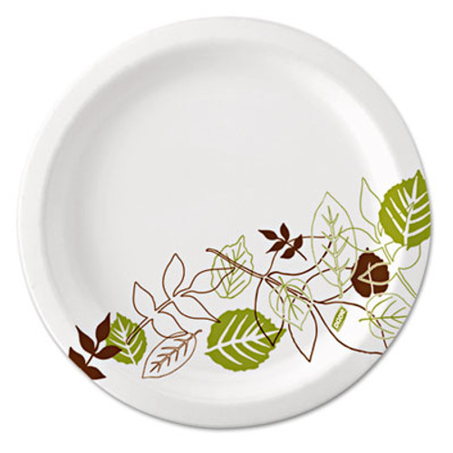 "Dixie Ultra Pathways Soak Proof Shield Heavyweight Paper Plates, WiseSize, 10 1/8"", 500/Ctn (DIX SXP10PATH)"