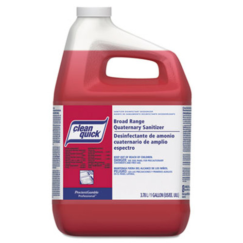Clean Quick Broad Range Quaternary Sanitizer w/Test Strips, Sweet Scent, 1gal (PGC 07535)
