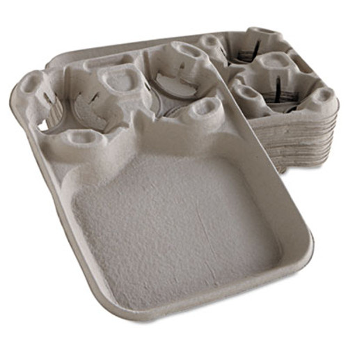 Chinet StrongHolder Molded Fiber Cup/Food Trays, 8-44oz, 2-Cup Capacity, 100/Carton (HUH FILM)