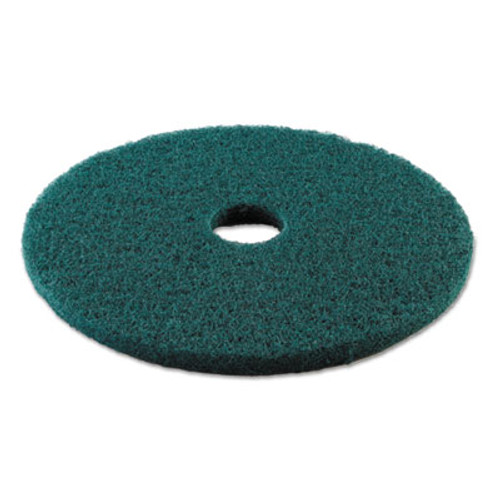 "Boardwalk Standard Heavy-Duty Scrubbing Floor Pads, 19"" Diameter, Green, 5/Carton (PAD 4019 GRE)"