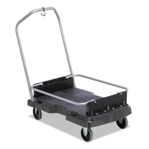 Rubbermaid Commercial Ice-Only Cart, 500-lb Cap, 21 2/5w x 39 1/10d x 15h, Black (RCP 9F55 BLA)