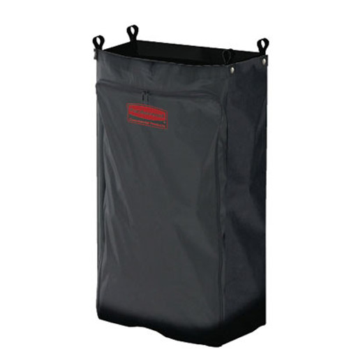 Rubbermaid Commercial Heavy-Duty Fabric Cleaning Cart Bag, 17 1/2w x 10d x 26 1/2h, Black (RCP 6187 BLA)