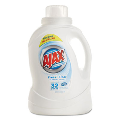 Ajax 2Xultra Liquid Detergent, Free & Clear, 50oz Bottle, 4/Carton (PBC 49551)