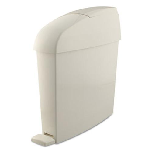 Rubbermaid Commercial Sanitary Bin, Rectangular, Plastic, 3 gal, White (RCP 750243)