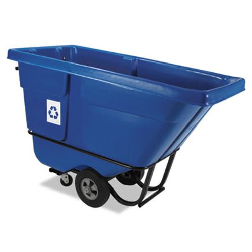 Rubbermaid Commercial Rotomolded Recycling Tilt Truck, Rectangular, Plastic, 850 lb. Cap., Blue (RCP 1305-73 BLU)