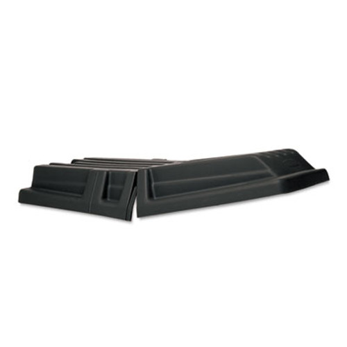 "Rubbermaid Commercial Hinged Dome Tilt Truck Lid, 16""w x 35 1/2""d x 36""h, Black (RCP 1317 BLA)"