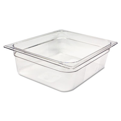 Rubbermaid Commercial Cold Food Pans, 7 7/8qt, 10 3/8w x 12 4/5d x 4h, Clear (RCP 124P CLE)
