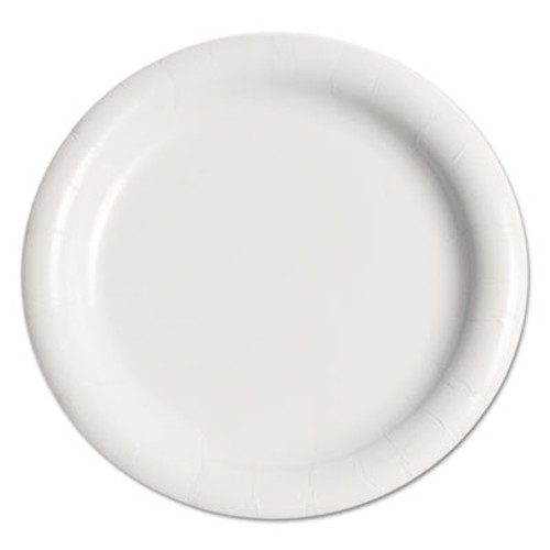 """SOLO Cup Company Bare Eco-Forward Clay-Coated Paper Plate, 9"""", WH, Rnd, Mdmwgt, 125/Pk, 4 PK/CT (SCC MWP9B)"""