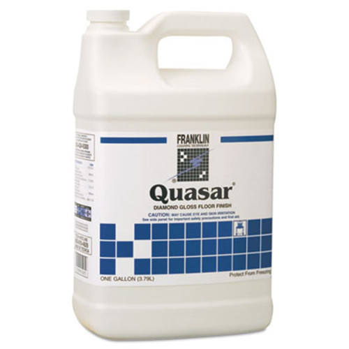Franklin Cleaning Technology Quasar High Solids Floor Finish, Liquid, 1 gal. Bottle (FRK F136022)