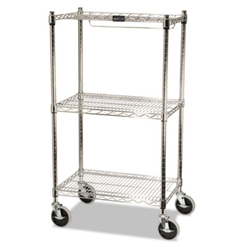 Rubbermaid Commercial ProSave Shelf Ingredient Bin Cart, Two-Shelf, 26w x 18d x 47 3/4h, Chrome (RCP 9G59)