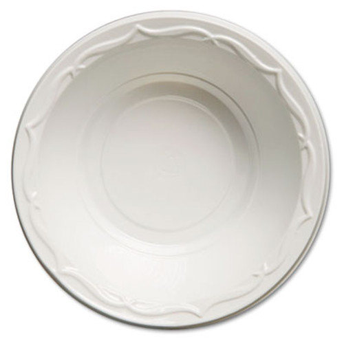 Genpak Aristocrat Plastic Bowls, 12 Ounces, White, Round, 125/Pack, 8 Packs/CT (GNP 72100)