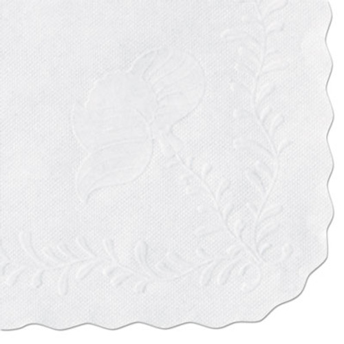 Hoffmaster Anniversary Embossed Scalloped Edge Tray Mat, 14 x 19, White, 1000/Carton (HFM TC8704472)