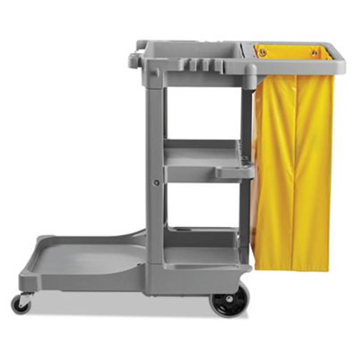 Boardwalk Janitor's Cart, Three-Shelf, 22w x 44d x 38h, Gray (UNS JCART GRA)