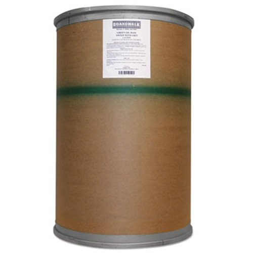 Boardwalk Oil-Based Sweeping Compound, Grit, Green, 300lbs, Drum (BWK A6COHO)