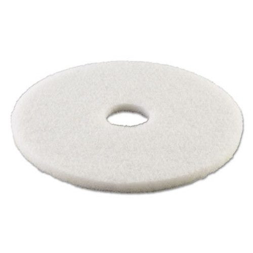 "Boardwalk Standard Polishing Floor Pads, 21"" Diameter, White, 5/Carton (PAD 4021 WHI)"