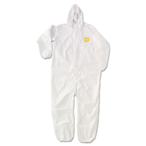 DuPont ProShield NexGen Elastic-Cuff Hooded Coveralls, White, 2X-Large, 25/Carton (DUP NG127SNP2X)