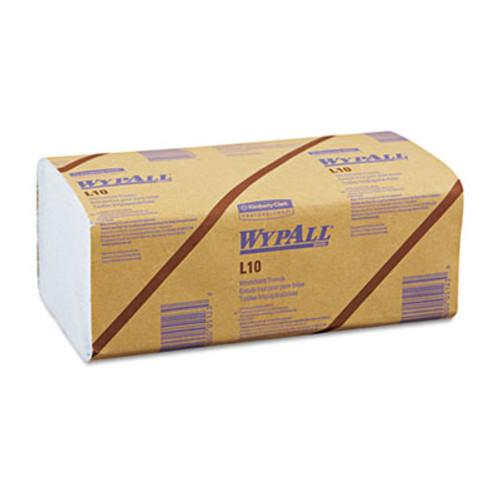 WypAll* L10 Windshield Towels, 9 1/10 x 10 1/4, 1-Ply, L-Blue, 224/Pack, 10 Packs/Carton (KCC 05123)