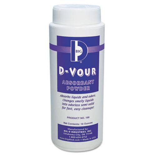 Big D Industries D-Vour Absorbent Powder, Canister, Lemon, 16oz, 6/Carton (BGD 166)