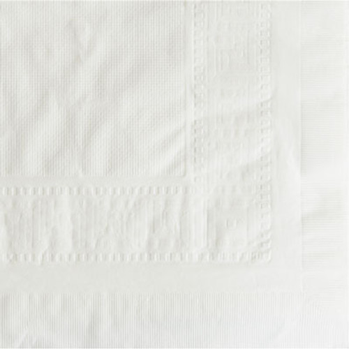 "Hoffmaster Cellutex Tablecover, Tissue/Poly Lined, 54 in x 108"", White, 25/Carton (HFM 210130)"