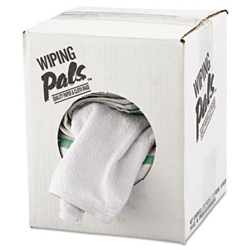 Hospital Specialty Co. Counter Cloth/Bar Mop, White, Cotton, 12/Bag, 5 Bags/Carton (HOS 536-60-5DZBX)